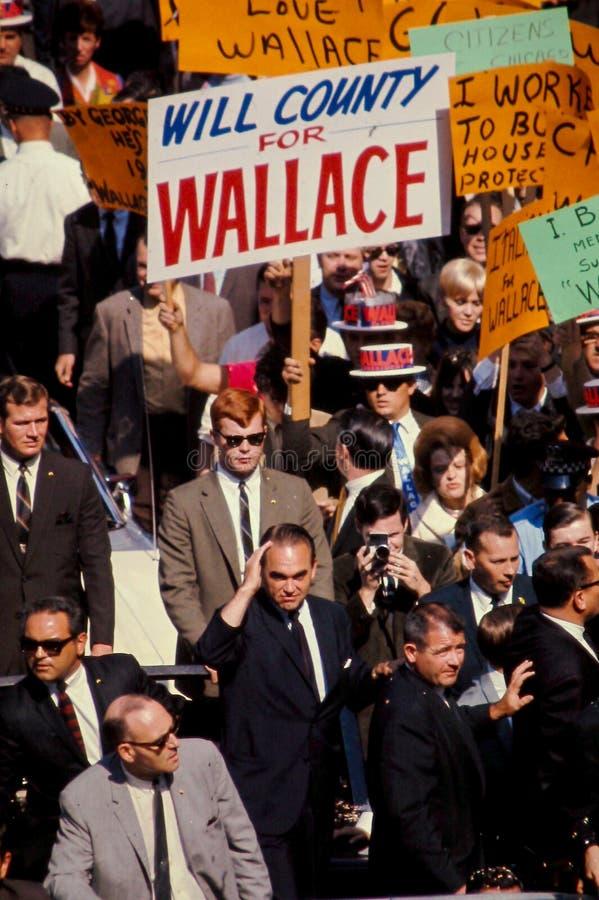 George Wallace prowadzi kampanię dla prezydenta w 1968. zdjęcie royalty free