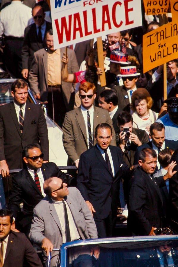 George Wallace prowadzi kampanię dla prezydenta w 1968. zdjęcia stock