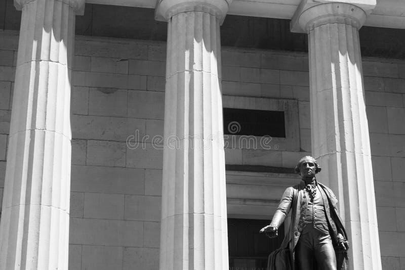 George Washignton in zwart-wit stock afbeelding