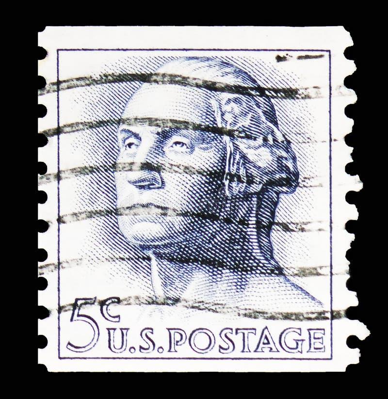 George Washington (1732-1799), κανονικό ζήτημα του 1961-1966 serie, circa 1962 στοκ φωτογραφίες με δικαίωμα ελεύθερης χρήσης