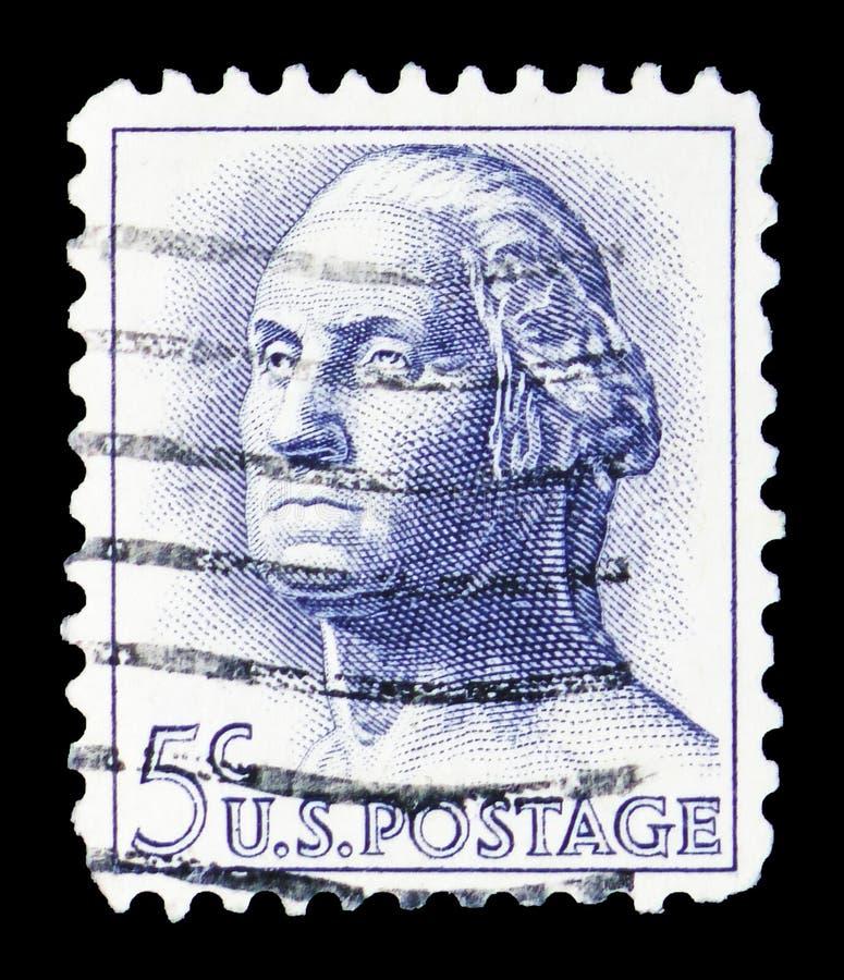 George Washington (1732-1799), κανονικό ζήτημα του 1961-1966 serie, circa 1963 στοκ φωτογραφίες