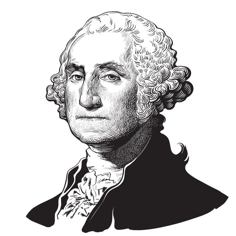 George Washington ilustração do vetor