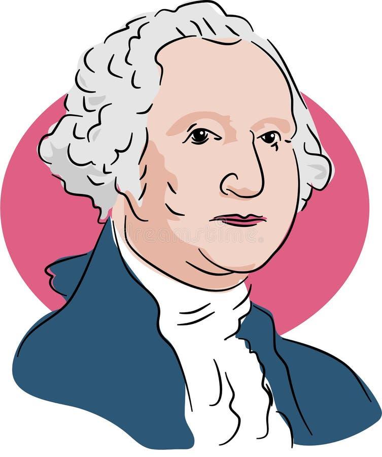 George Washington royalty illustrazione gratis