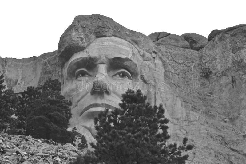 George Washington al supporto Rushmore immagine stock libera da diritti