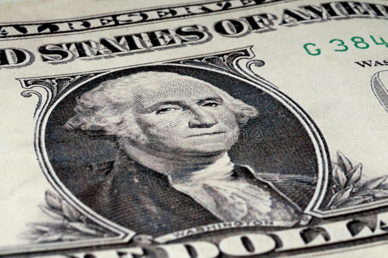 Download George Washington On An American 1 Dollar Bill Royalty Free Stock Photography - Image: 12180947