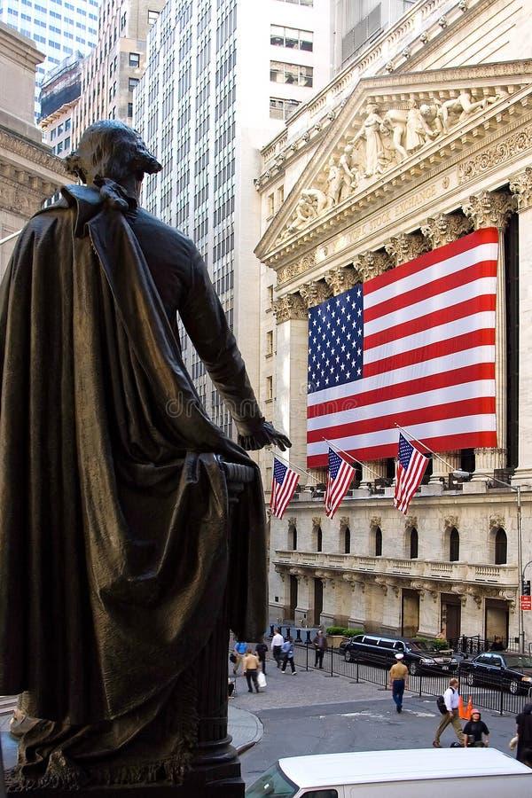 George Washington bij NYSE royalty-vrije stock fotografie