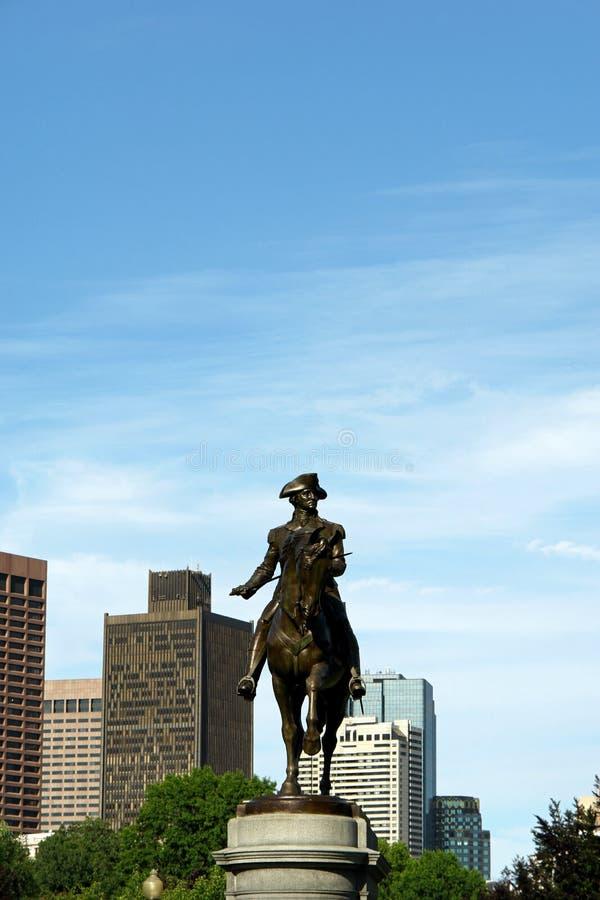 George Washington in Boston stock afbeeldingen
