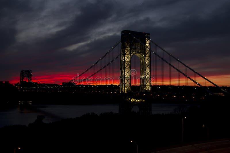 George Washington Bridge royaltyfri fotografi