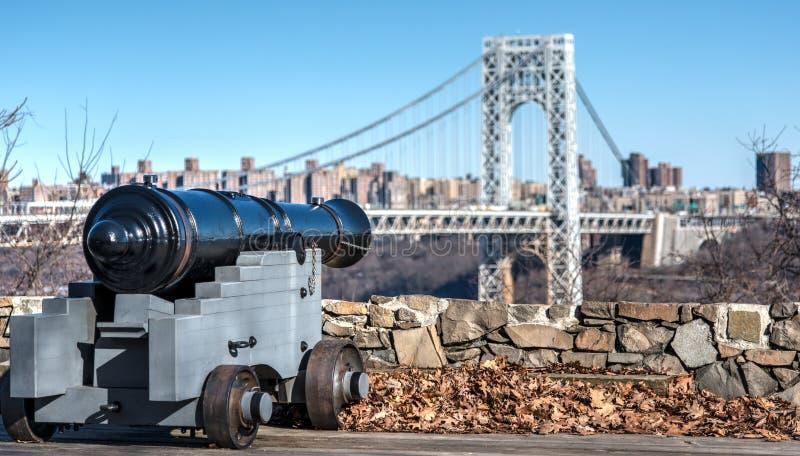 George Washington Bridge Canon arkivfoton