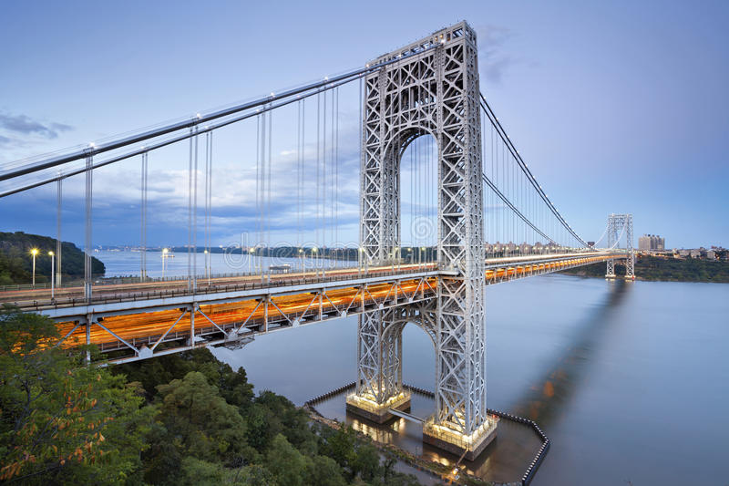 George Washington Bridge, New York. Image of George Washington Bridge at Twilight royalty free stock image