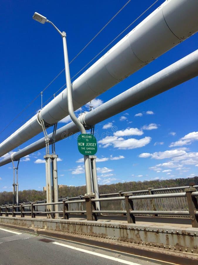 George Washington Bridge To New Jersey images libres de droits