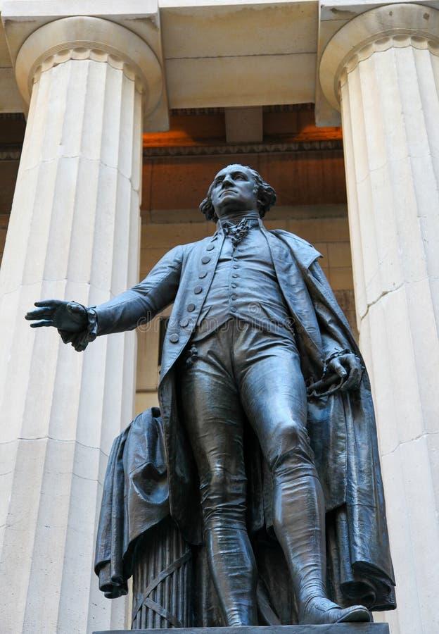 George Washington chez le Hall fédéral à Manhattan photos stock
