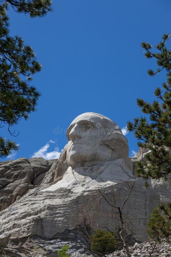George Washington en el montaje Rushmore foto de archivo