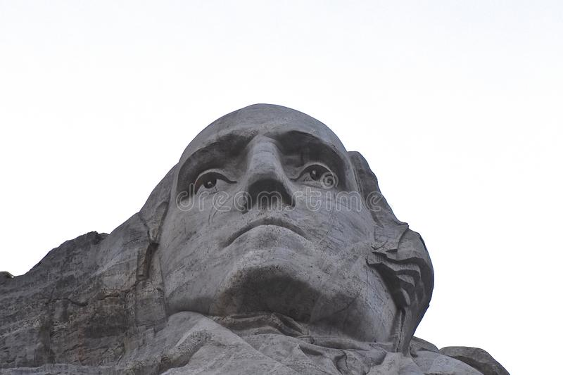 George Washington en el montaje Rushmore imagen de archivo