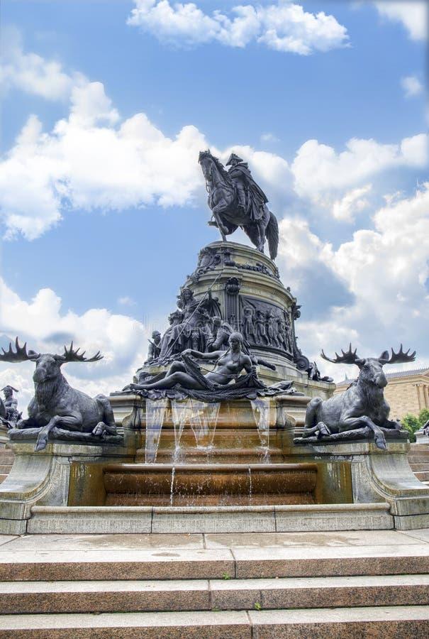 George Washington Fountain stock photo