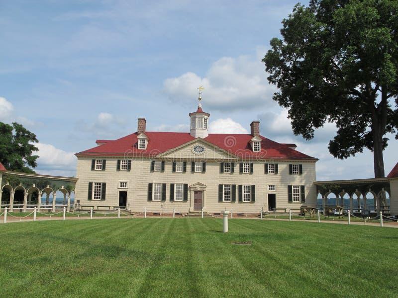 George Washington house in Mount Vernon stock photo
