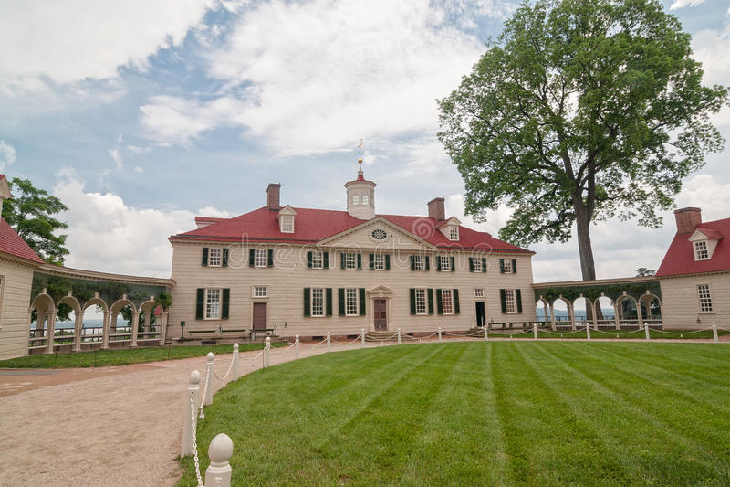 George Washington hus i Mount Vernon, VA fotografering för bildbyråer
