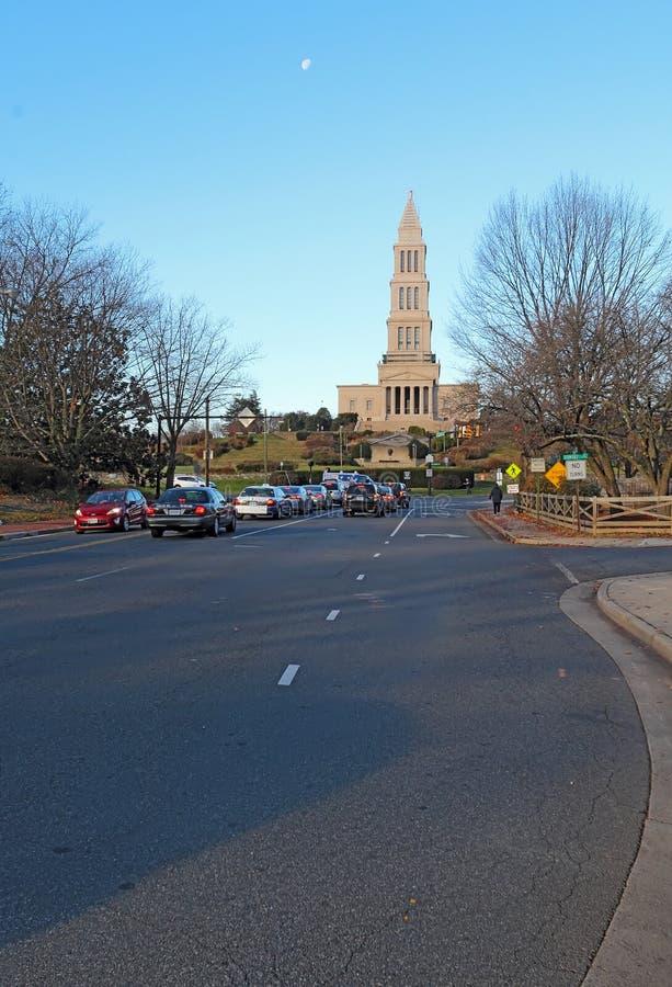 George Washington Masonic National Memorial i Alexandria, V royaltyfri foto