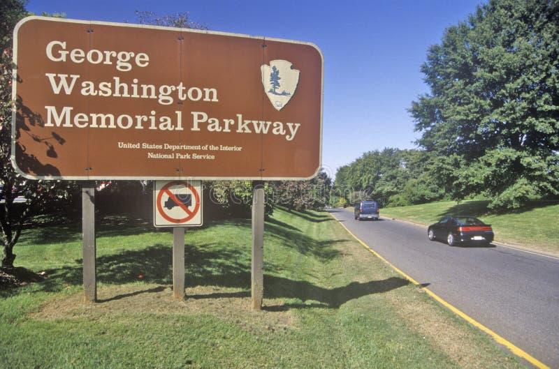George Washington Memorial Parkway, Washington, DC lizenzfreies stockfoto