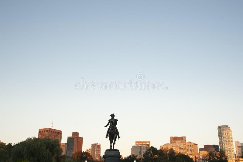George Washington Monument Boston Public Garden, fotografia de stock