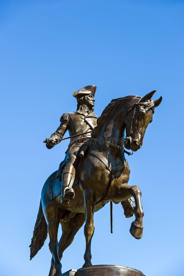 George Washington monument, Boston stock image