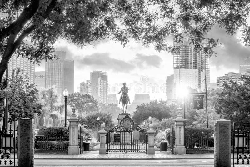 George Washington monument in Public Garden Boston Massachusetts. USA royalty free stock images