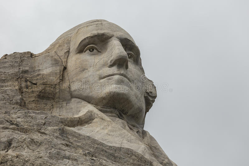 George Washington na montagem Rushmore foto de stock royalty free