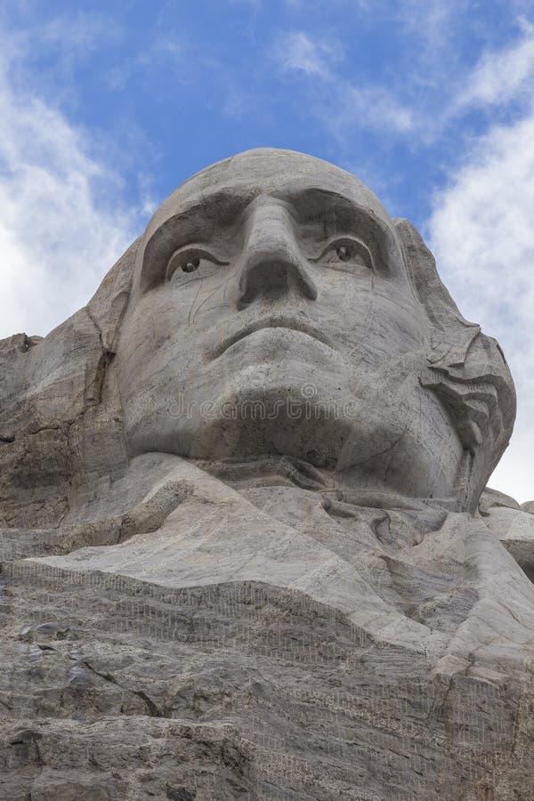 George Washington na montagem Rushmore fotos de stock