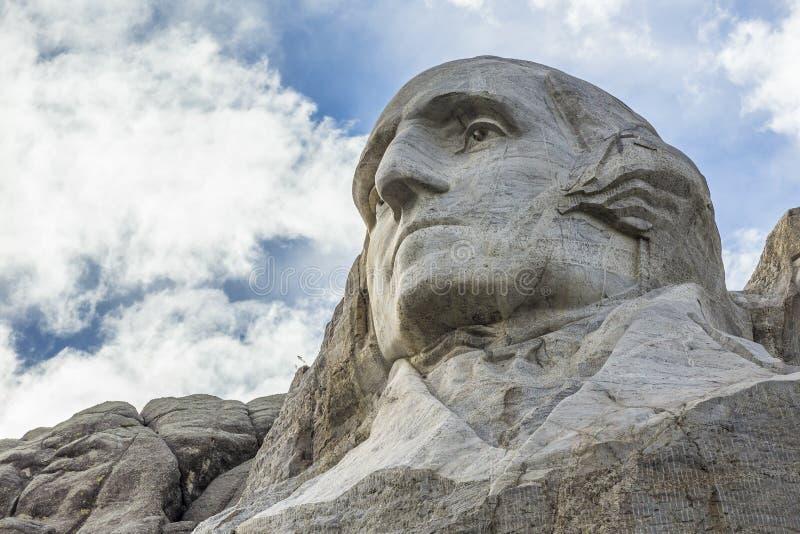 George Washington na montagem Rushmore imagem de stock royalty free