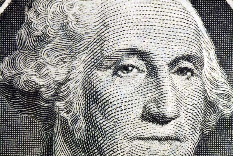 George Washington på en dollar royaltyfri bild