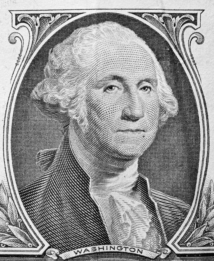 George Washington portrait on one dollar bill. stock photography