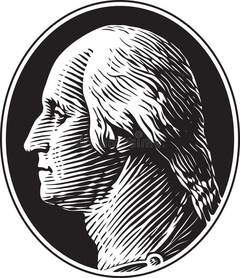 George Washington Portrait Vintage Style ilustración del vector
