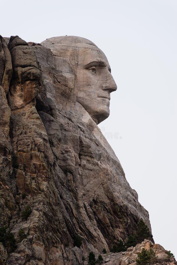 George Washington Profile Granite Rock Mount Rushmore South Dakota arkivbilder