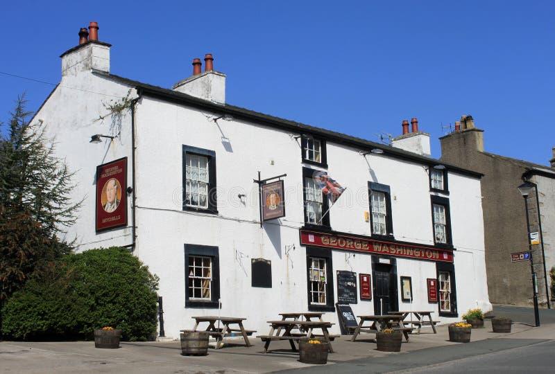 George Washington pub przy Warton Lancashire (północ) obrazy royalty free