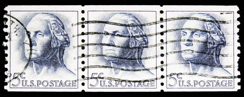 George Washington (1732-1799), 1961-1966 Regular Issue serie, circa 1962 stock photo