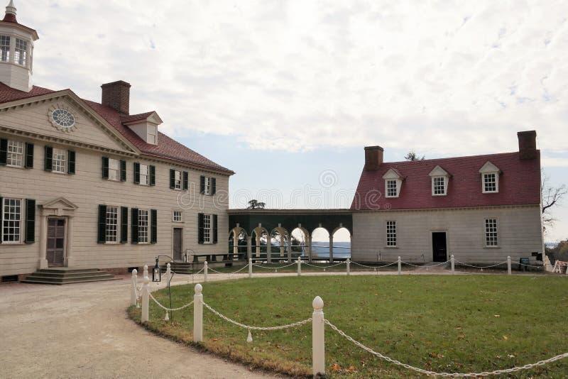 George Washington ` s zet Vernon Estate op royalty-vrije stock foto