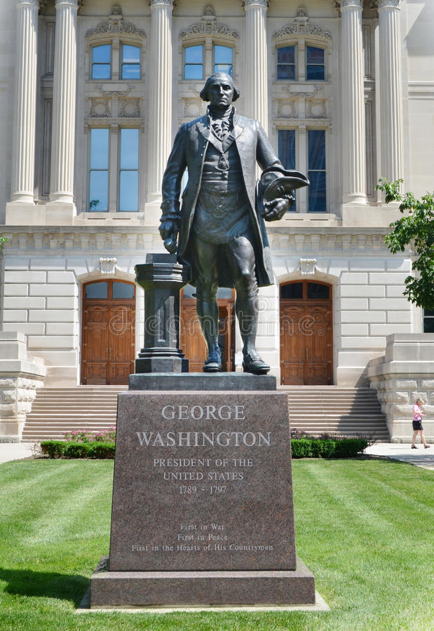 Download George Washington Sculpture At The Indiana Statehouse Editorial Photo - Image: 41880731