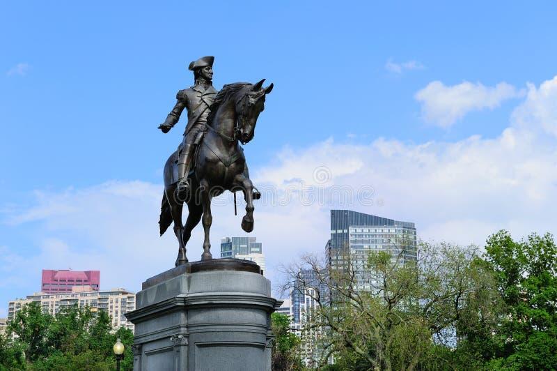 George Washington Standbeeld in het Gemeenschappelijke Park van Boston royalty-vrije stock afbeeldingen