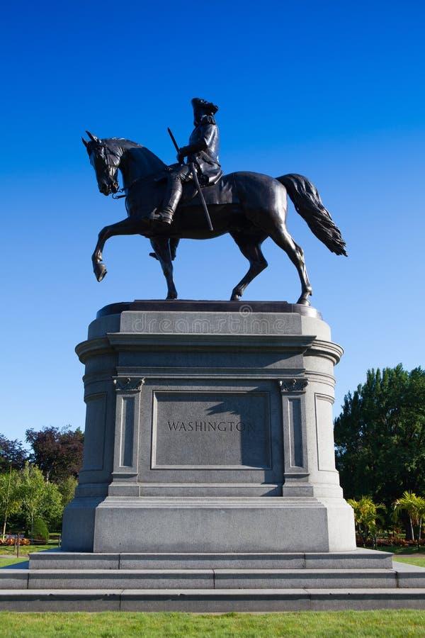 George Washington Statue bij de Openbare Tuin van Boston, Boston, stock fotografie