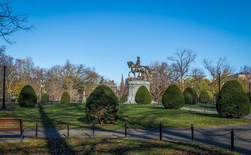 George Washington Statue in de Openbare Tuin van Boston - Boston, Massachusetts, de V.S. stock fotografie