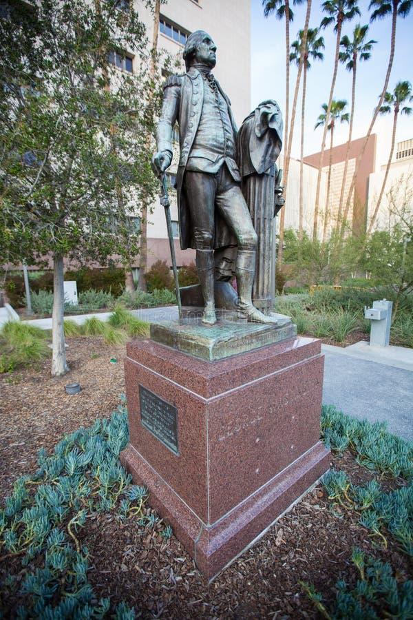 George Washington Statue em Los Angeles fotografia de stock royalty free