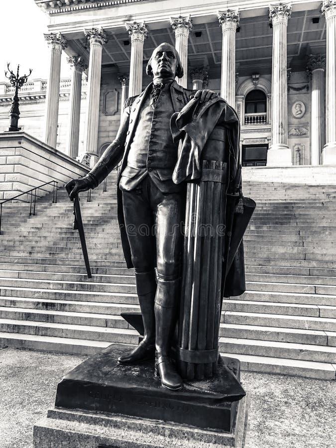 George Washington Statue, het Kapitaal van de Staat van Zuid-Carolina in Colombia stock foto