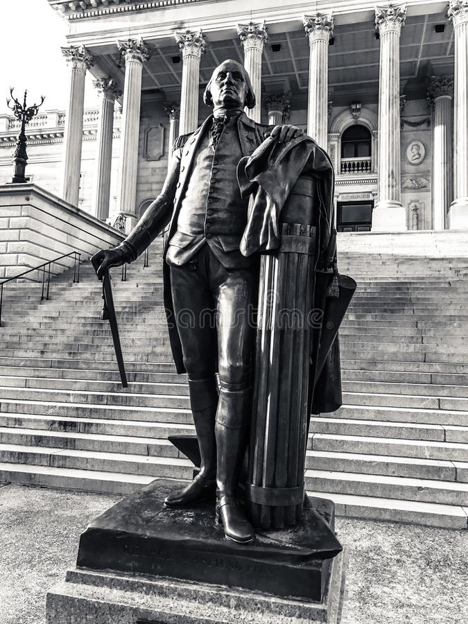 George Washington Statue huvudstad av South Carolina i Columbia arkivfoto