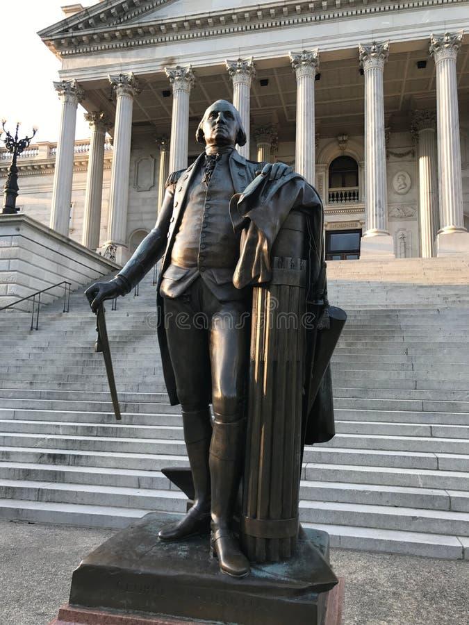George Washington Statue huvudstad av South Carolina i Columbia arkivbild