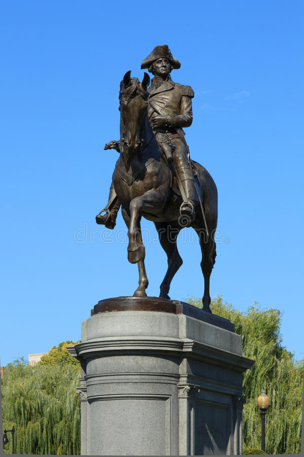 Free George Washington Statue In Boston Common Park Stock Images - 26482644