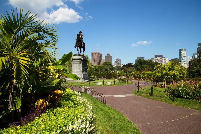 George Washington Statue no jardim de Boston Public, Boston foto de stock royalty free