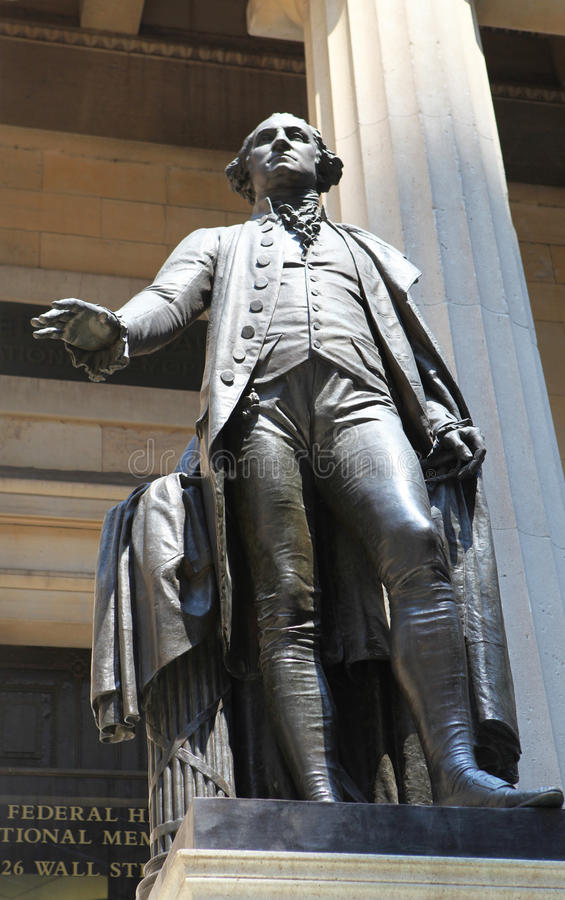 George Washington Statue at Wall Street royalty free stock photo