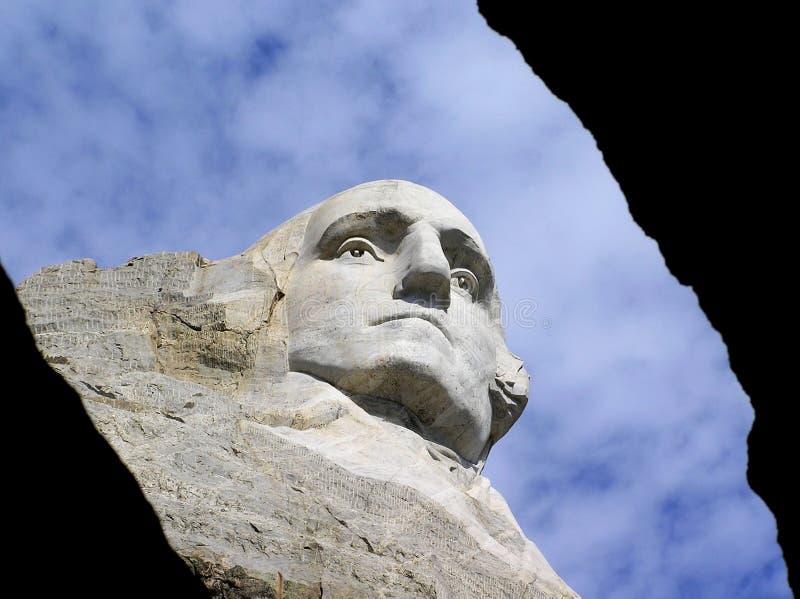 George Washington stellen beim Mount Rushmore, South Dakota, USA gegenüber lizenzfreie stockfotos
