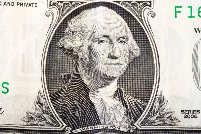 George Washington sur un billet de banque du dollar image stock