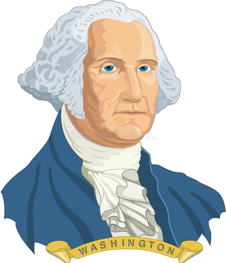 George Washington Vector Illustration royalty-vrije illustratie